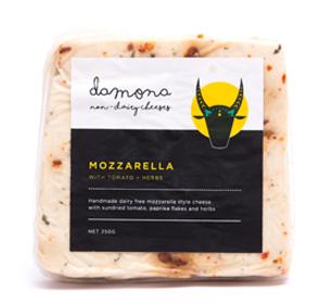 MOZZARELLA WITH TOMATO + HERBS